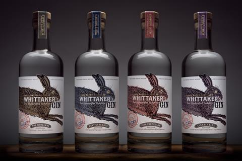 Whittakers gin bottles