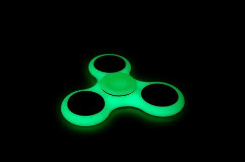 Glow-in-the-dark fidget spinner
