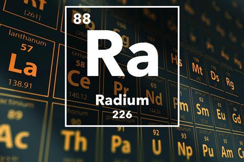 Periodic table of the elements – 88 – Radium
