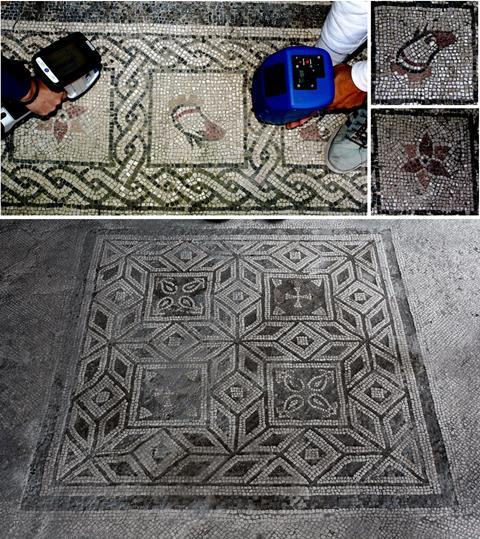 An image showing part of the mosaic under study