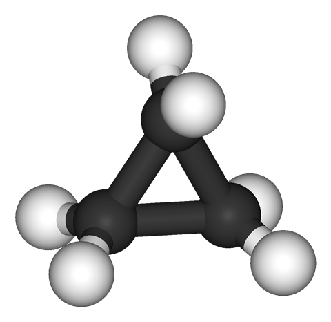 Cyclopropane 3D structure
