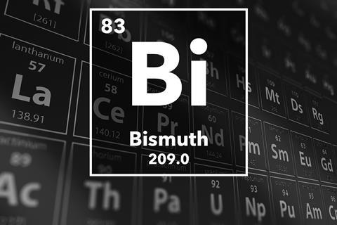 Periodic table of the elements – 83 – Bismuth