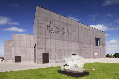 An image showing the Hepworth Gallery in Wakefield