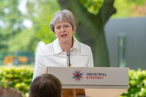 Prime Minister Theresa May visiting Jodrell Bank to outline the government's modern Industrial Strategy, 21 May 2018