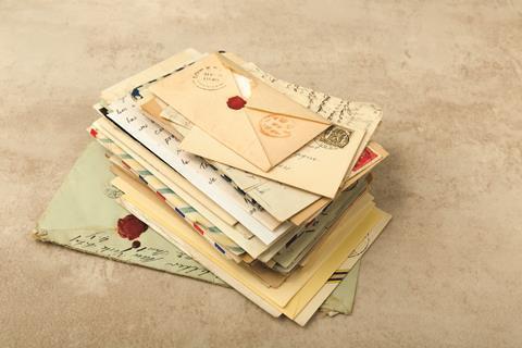 Wax sealed envelopes