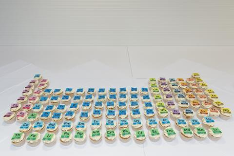 An image showing the Royal Society of Chemistry Periodic Table of Cupcakes