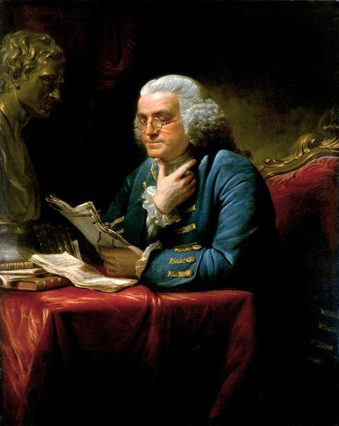Portrait of Benjamin Franklin by David Martin, 1767