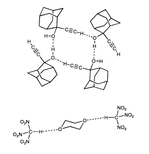 An image showing hydrogen bonding as pioneered by June Sutor