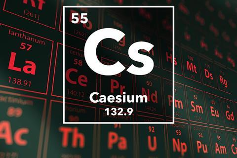 Periodic table of the elements 55 Caesium