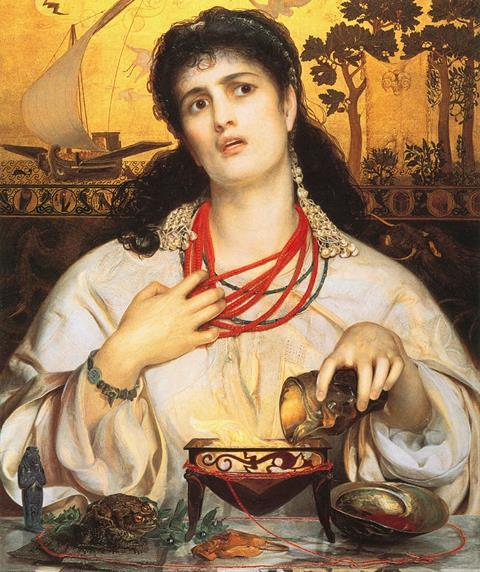 Medea by Anthony Frederick Augustus Sandys (painted 1866-68)