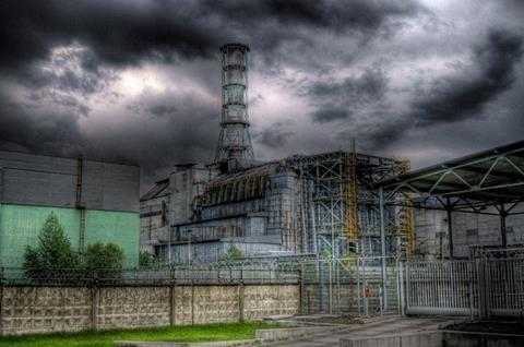 This is a picture of the HDR technology of the Sarcophagus in the Chernobyl Zone.