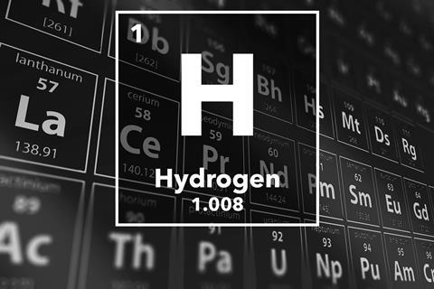 Periodic table of the elements – 1 – Hydrogen