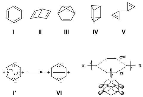 Benzene valence isomers