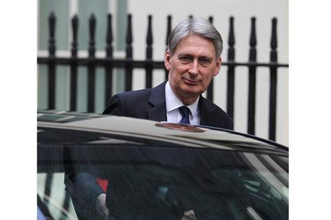 LONDON - FEB 28, 2017: Philip Hammond Chancellor of the Exchequer seen at 10 Downing Street in London