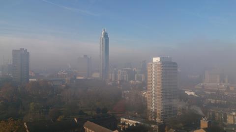 Cityscape In Smog