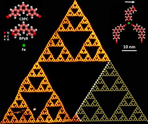 stm image of the sierpinski triangles