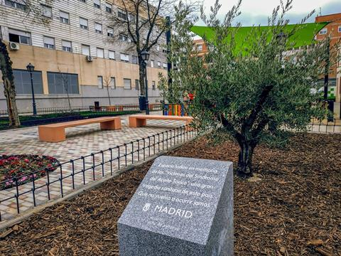 Plaque to the victims of the Toxic Oil Syndrome, Madrid