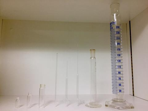 An image showing laboratory glassware