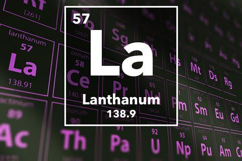 Periodic table of the elements – 57 – Lanthanum