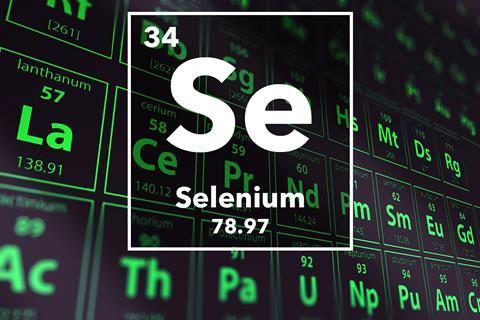 Periodic table of the elements – 34 – Selenium