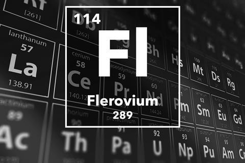 Periodic table of the elements – 114 – Flerovium