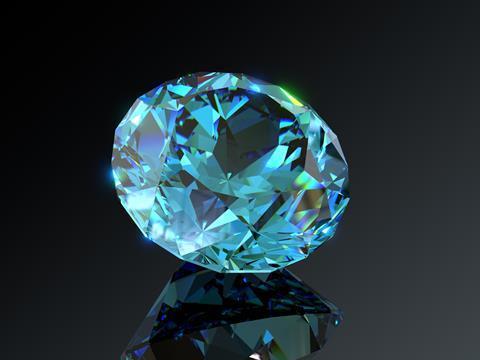 blue zircon in isolation