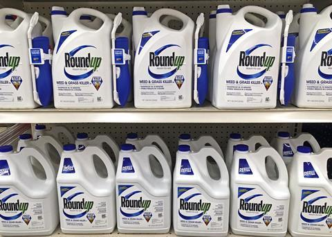 An image showing Roundup herbicide bottles