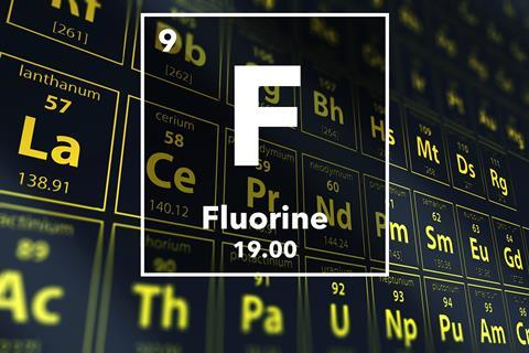 Periodic table of the elements – 9 – Fluorine