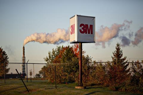 An image showing a 3M logo sign in Minnesota