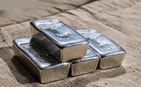 Cast silver bars