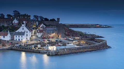 A photograph of the Scottish coastal village Crail