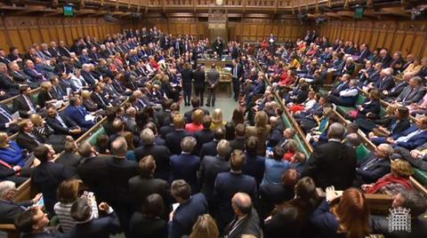 MPs in the House of Commons, London after they rejected Labour's motion of no confidence in Theresa May's Government by 325 votes to 306
