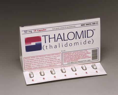 0418CW - Business Feature - Thalomid drug capsules