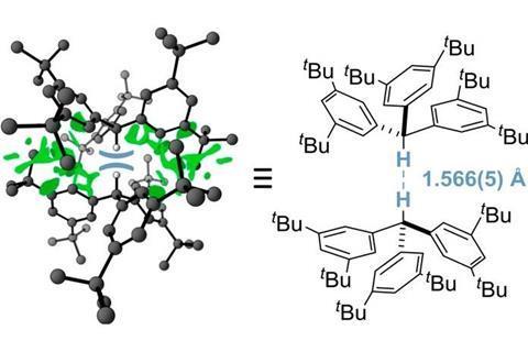 Shortest Intermolecular Hydrocarbon H···H Contact molecular model