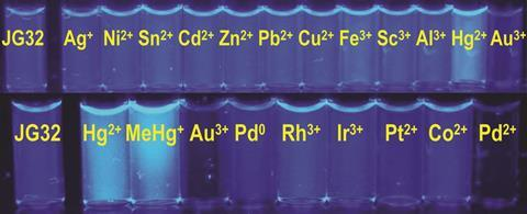 fluorescence changes in the presence of different metal ions
