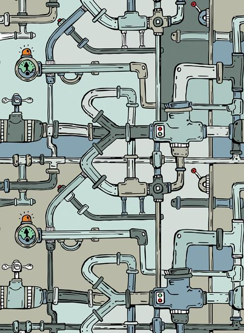 Pipework concept image - shutterstock 326026280