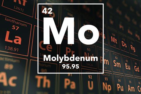 Periodic table of the elements – 42 – Molybdenum