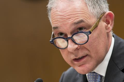 EPA Administrator Scott Pruitt testifying before the Senate Interior, Environment and Related Agencies Appropriations Subcommittee, May 16, 2018
