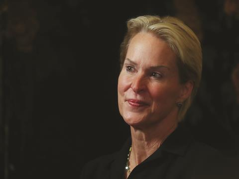 Frances Arnold at a celebratory press conference at Caltec, 3rd October 2018