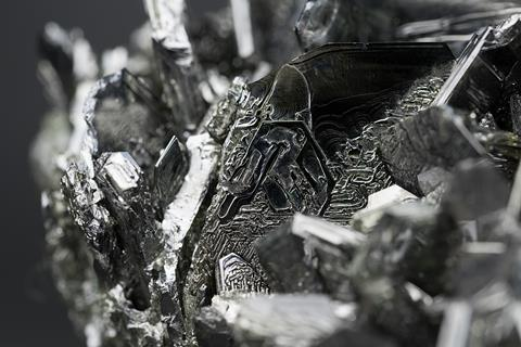 A picture showing a magnetite macro closeup