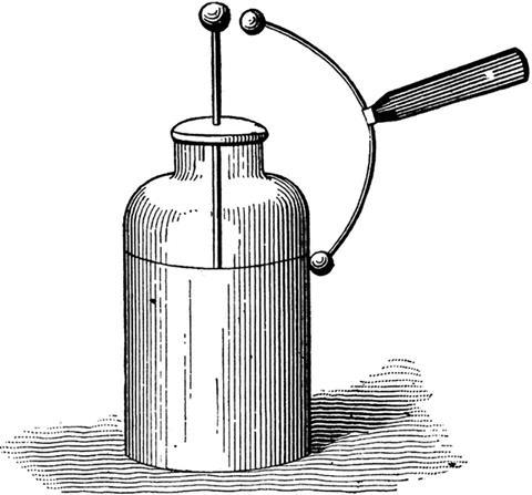 0417CW - Classic Kit - Leyden jar drawing