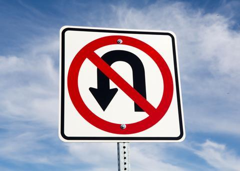 An image of a No U turn roadsign