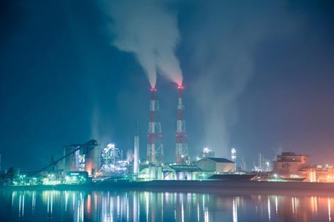 Chemical plant emissions