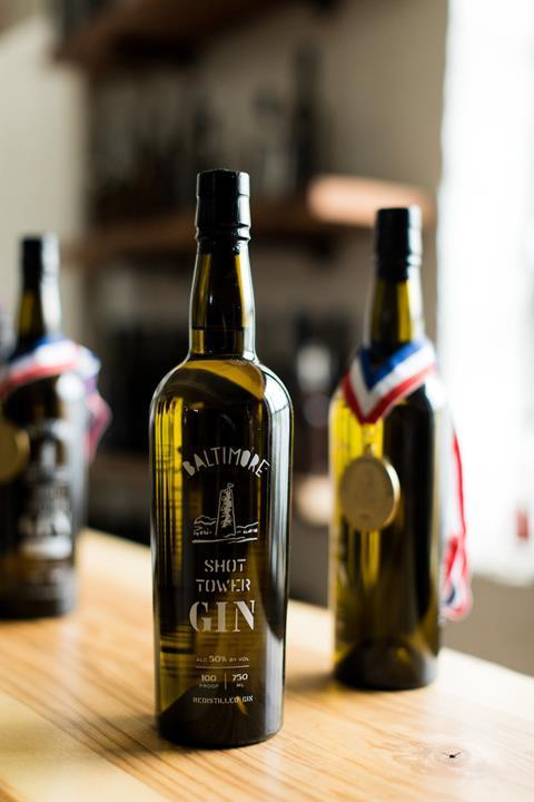 The Baltimore Whiskey Company gin bottle