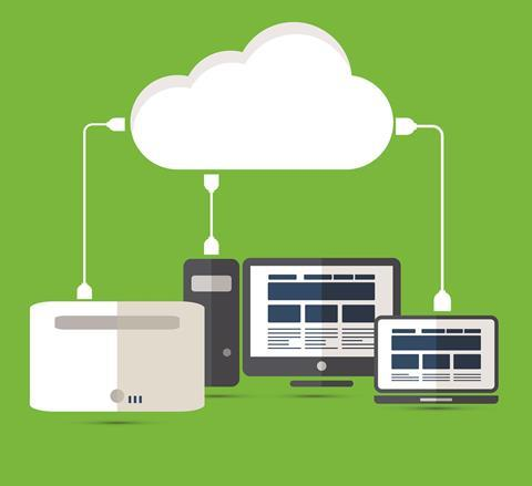 Cloud-based systems concept illustration