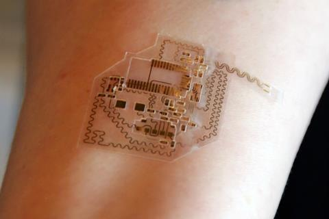 Profusa's implanted sensors may communicate with a flexible, wearable component