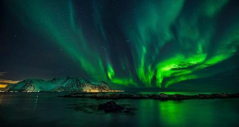 Aurora over the Lofoten islands