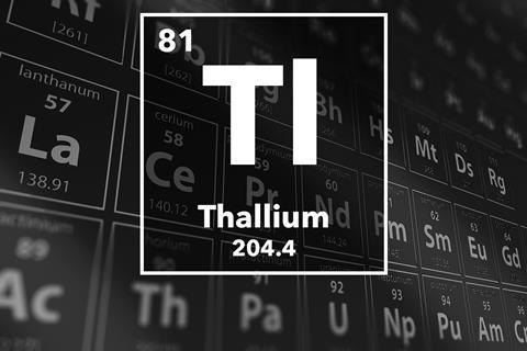 Periodic table of the elements – 81 – Thallium