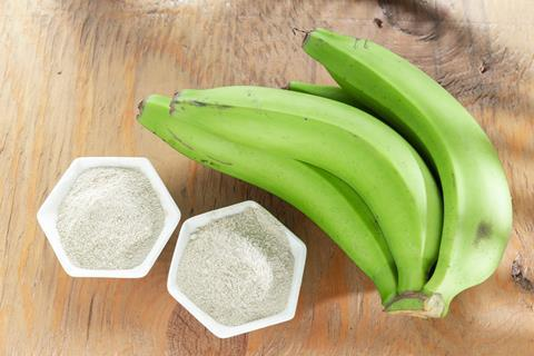 Green bananas and flour
