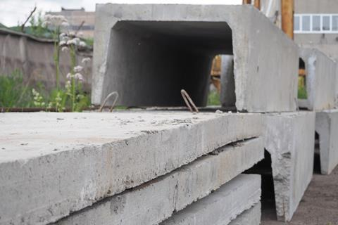 Iron concrete slab. Manufacturing concrete slabs. Concrete products
